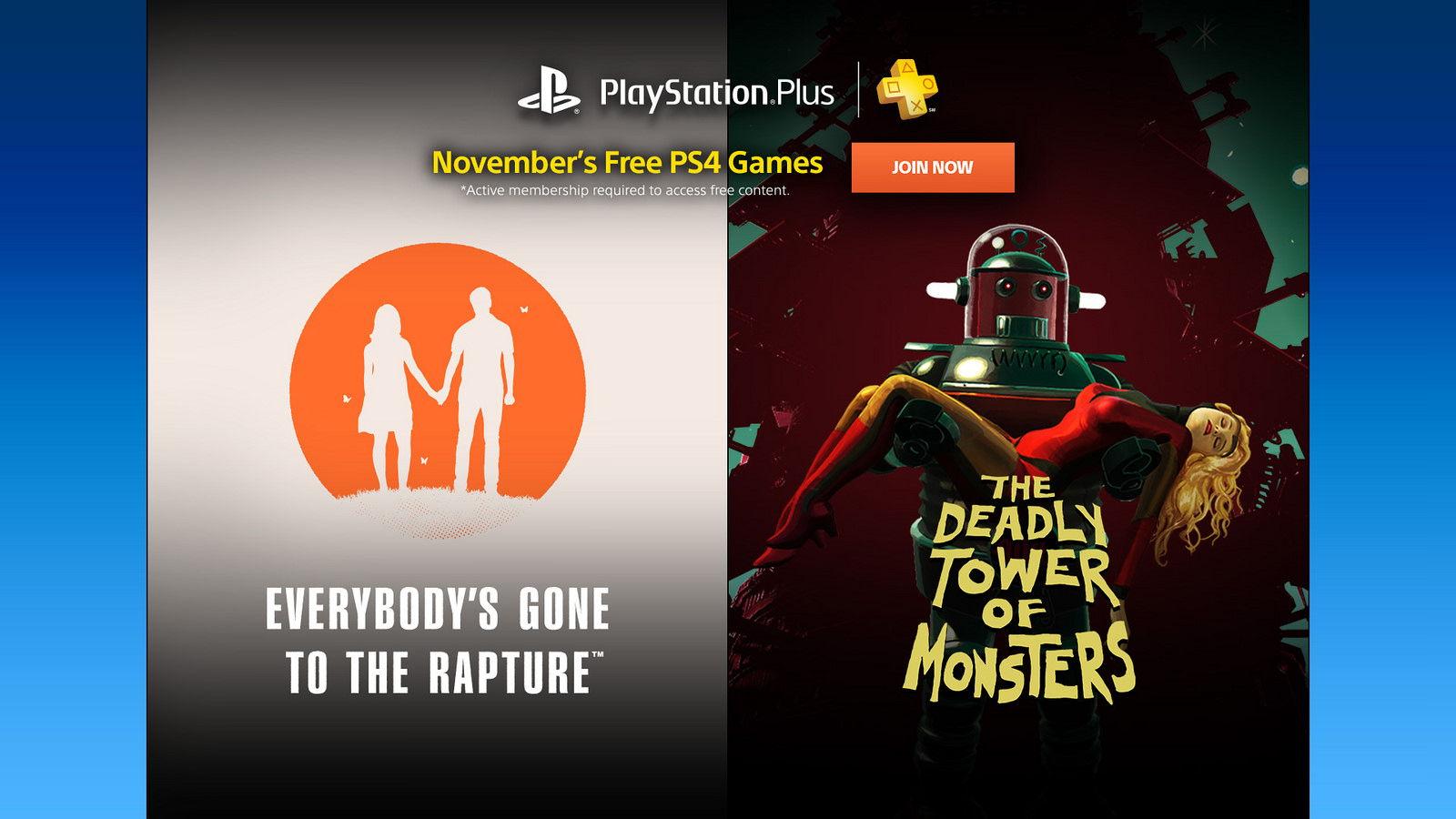 PS Plus: Jocuri gratuite in luna Noiembrie 2016
